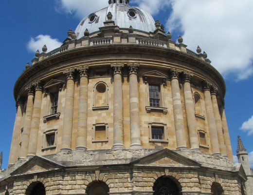 Radcliffe Camera Oxford The Girl On the Move