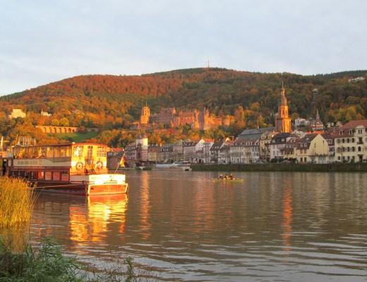 Sunset over Heidelberg castle