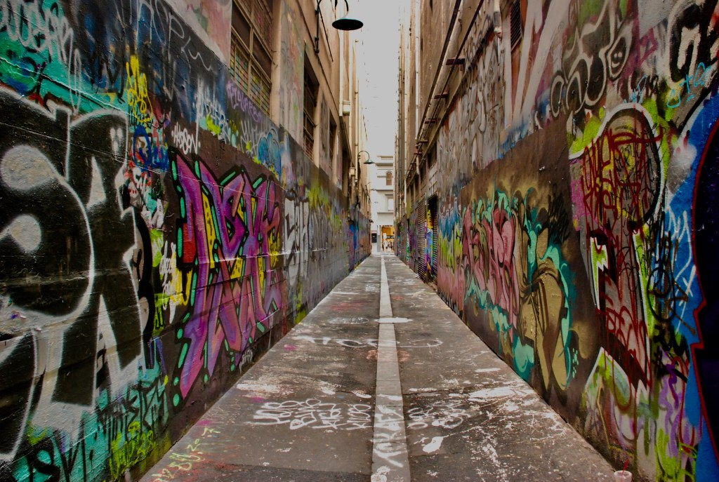 alley with graffiti