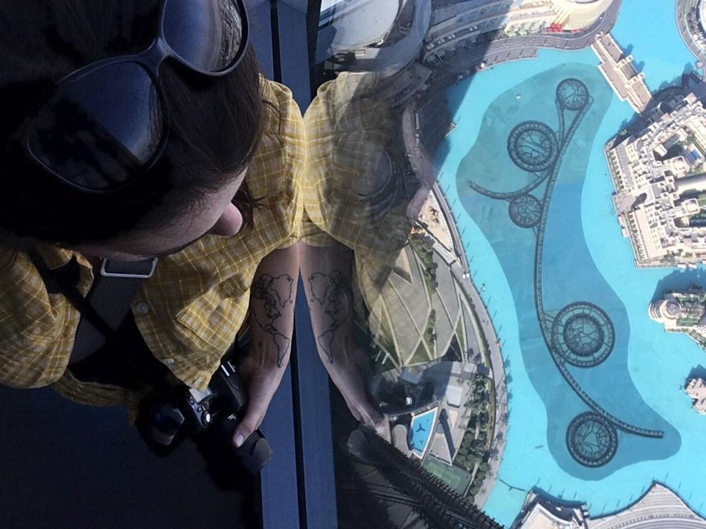 at the top of the Burj Khalifa, Dubai