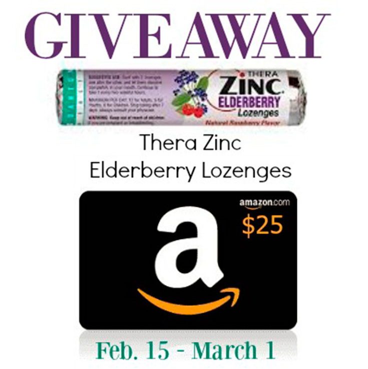 Thera Zinc Elderberry Lozenges + $25 Amazon Gift Card Giveaway