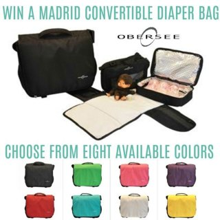 Obersee Madrid Convertible Diaper Bag Giveaway