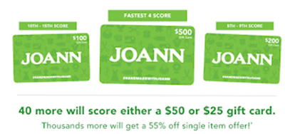 JOANN Gift Card Giveaway