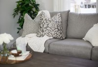 Raymour and Flanigan cozy and casual living room details ...