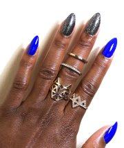 blank press nails nail