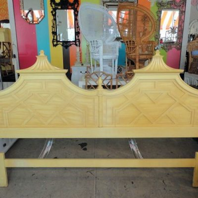 FOUND: Vintage Thomasville Pagoda Headboard!