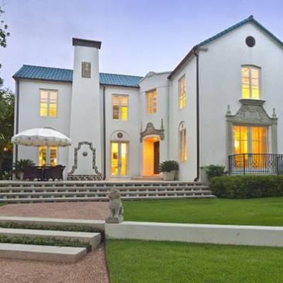 Take a White-Hot Tour of a 1920s Dallas Mediterranean Mansion