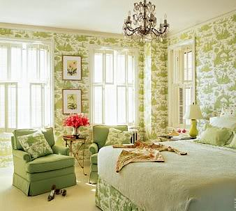 50 Gorgeous Green and White Bedrooms