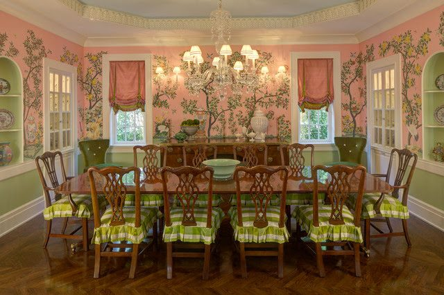 So You Can Imagine My Delight When I Found This Delicious Pink Palm Beach  Chic Dining Room Today Via Pinterestu2026
