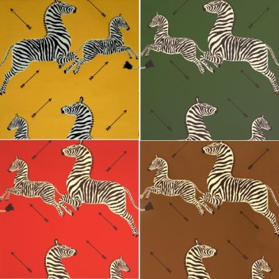 Scalamandre-Inspired Zebra Fabric… on a Budget
