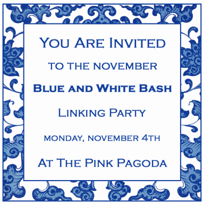 November Blue and White Bash at The Pink Pagoda