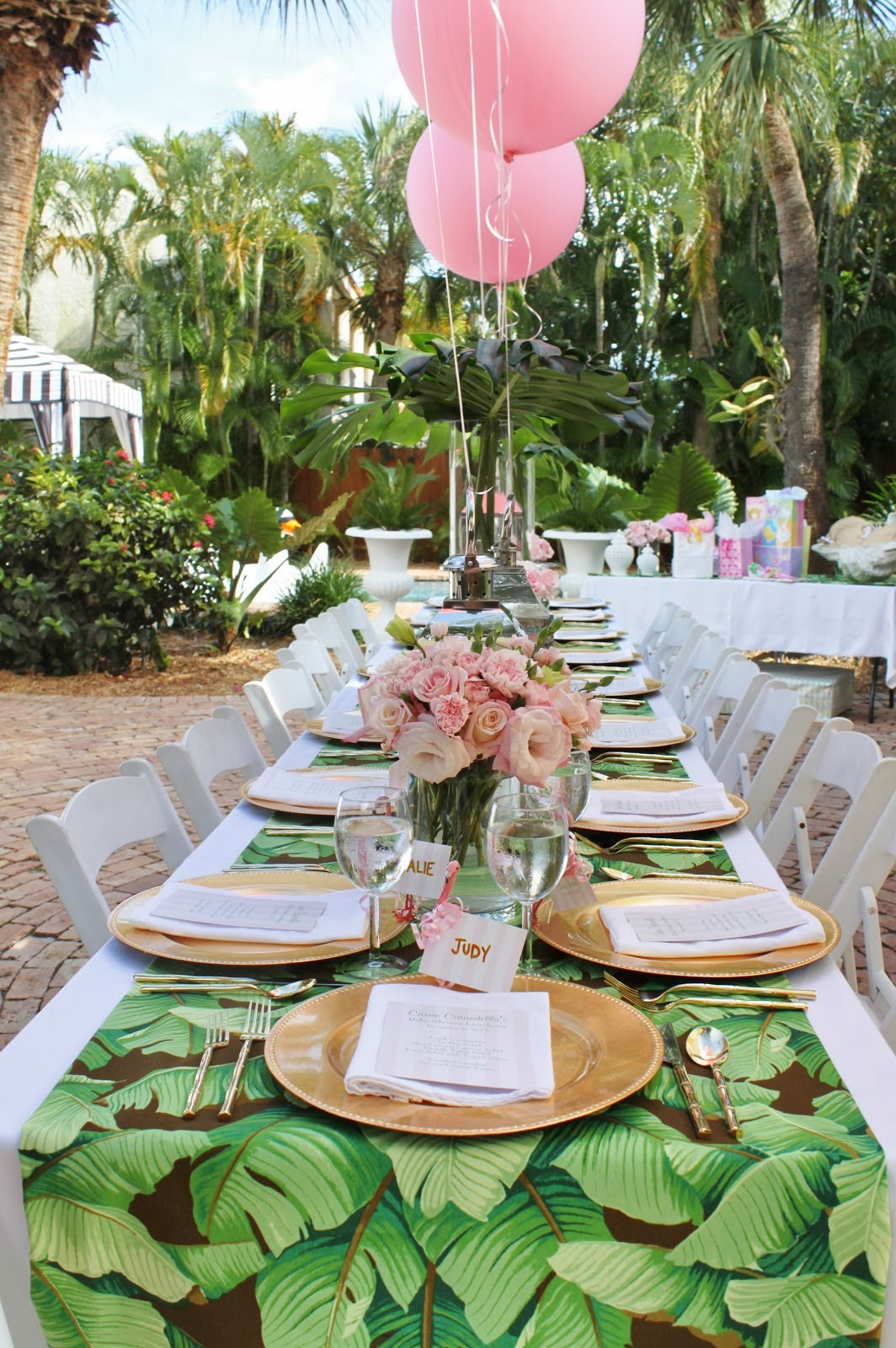 A Palm Beach Chic Baby Shower By Luxe Report Designs