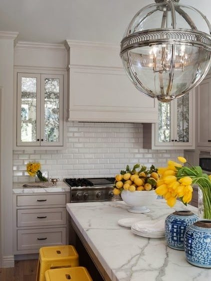 Classic White Kitchen 25 classic white kitchens with blue & white accessories