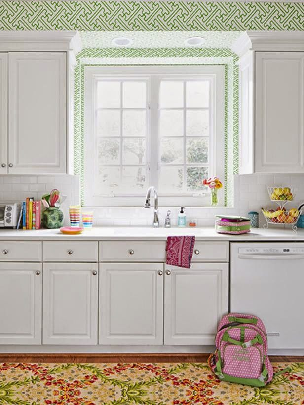 Avery Kept The Original Kitchen Cabinets But Painted Them White By Benjamin  Moore In A High Gloss Finish. She Also Put In A White Subway Tile  Backsplash And ...