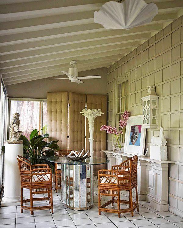 Great palm beach style bungalo serge roche mirrored