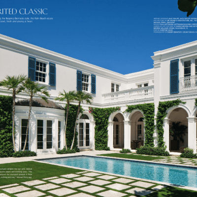A Blue and White Regency Bermuda in Palm Beach
