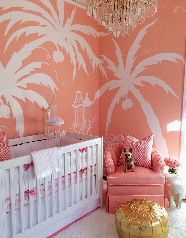 A Nursery for a Palm Beach Princess - The Glam Pad