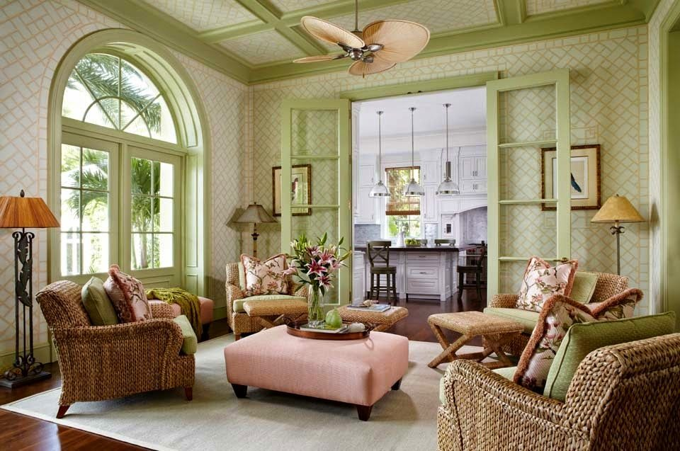 Amazing A British Colonial bed dominates a guest room A quartet of parrot prints provide color and height to the overall position