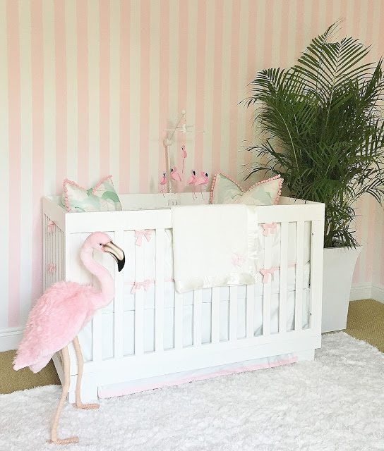 Vintage Inspired Classic Soft Pink Nursery: A Glamorous Pink And Green Nursery Inspired By The Beverly