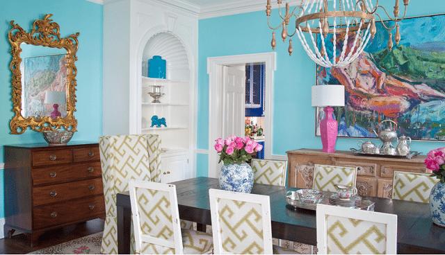 Tiffany Blue Dining Room Robin Egg Traditional Preppy