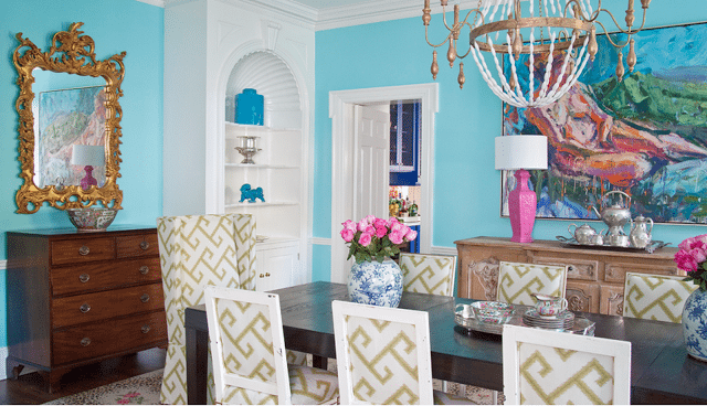 Tiffany Blue Dining Room Robin Egg Traditional Preppy