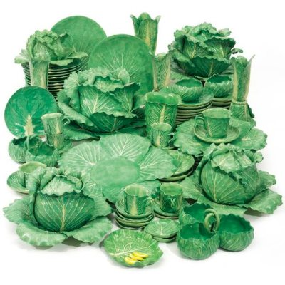 C.Z. Guest's Collection of Dodie Thayer Lettuce Ware at Sotheby's