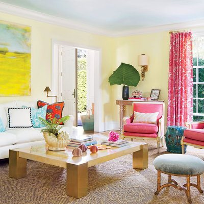 marvellous turquoise yellow living room | pink-yellow-turquoise-living-room-4020001 - The Glam Pad