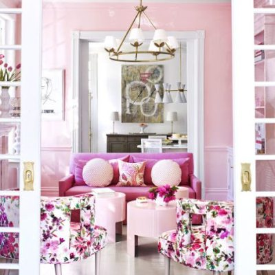 Suellen Gregory Designs A Pretty-In-Pink Virginia Townhouse