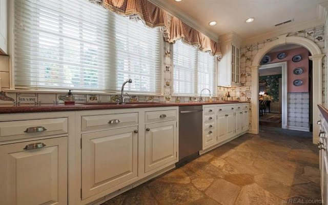 French Wine Kitchen Tile Vegetables Fruit The Glam Pad