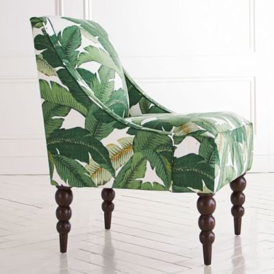 Banana Leaf Upholstered Chair