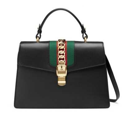 Gucci Leather Satchel Bag