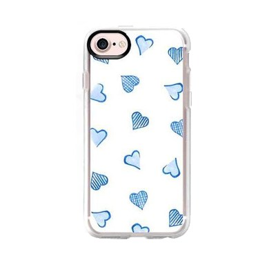 Blue Hearts iPhone Case
