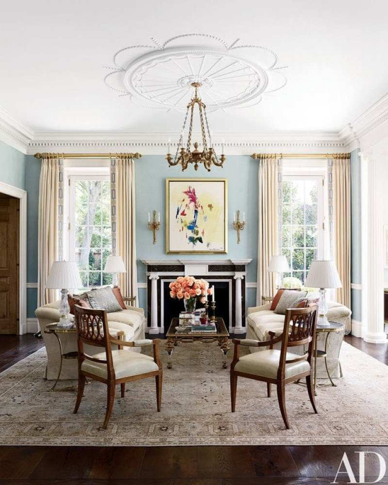 Oriental Rug For Small Room: A Federal Style Mansion In Houston