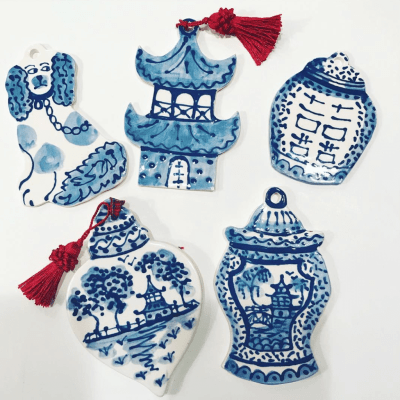 Chinoiserie Christmas Ornaments