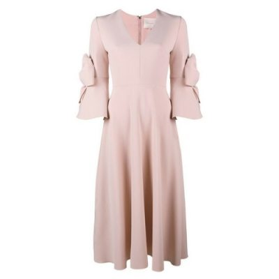 Roksanda Pink Bow Dress
