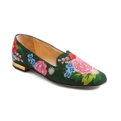 Charlotte Olympia Needlepoint Loafers
