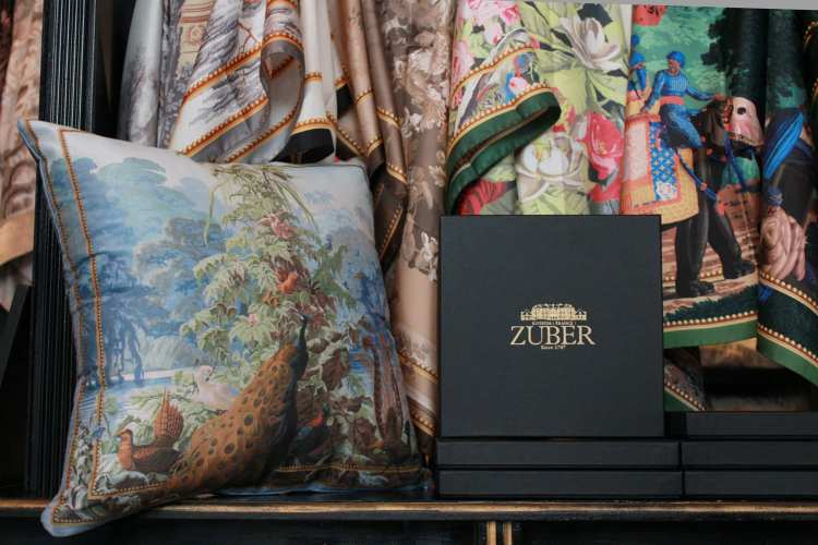 Zuber Announces Exclusive Line of Scarves and Pillows