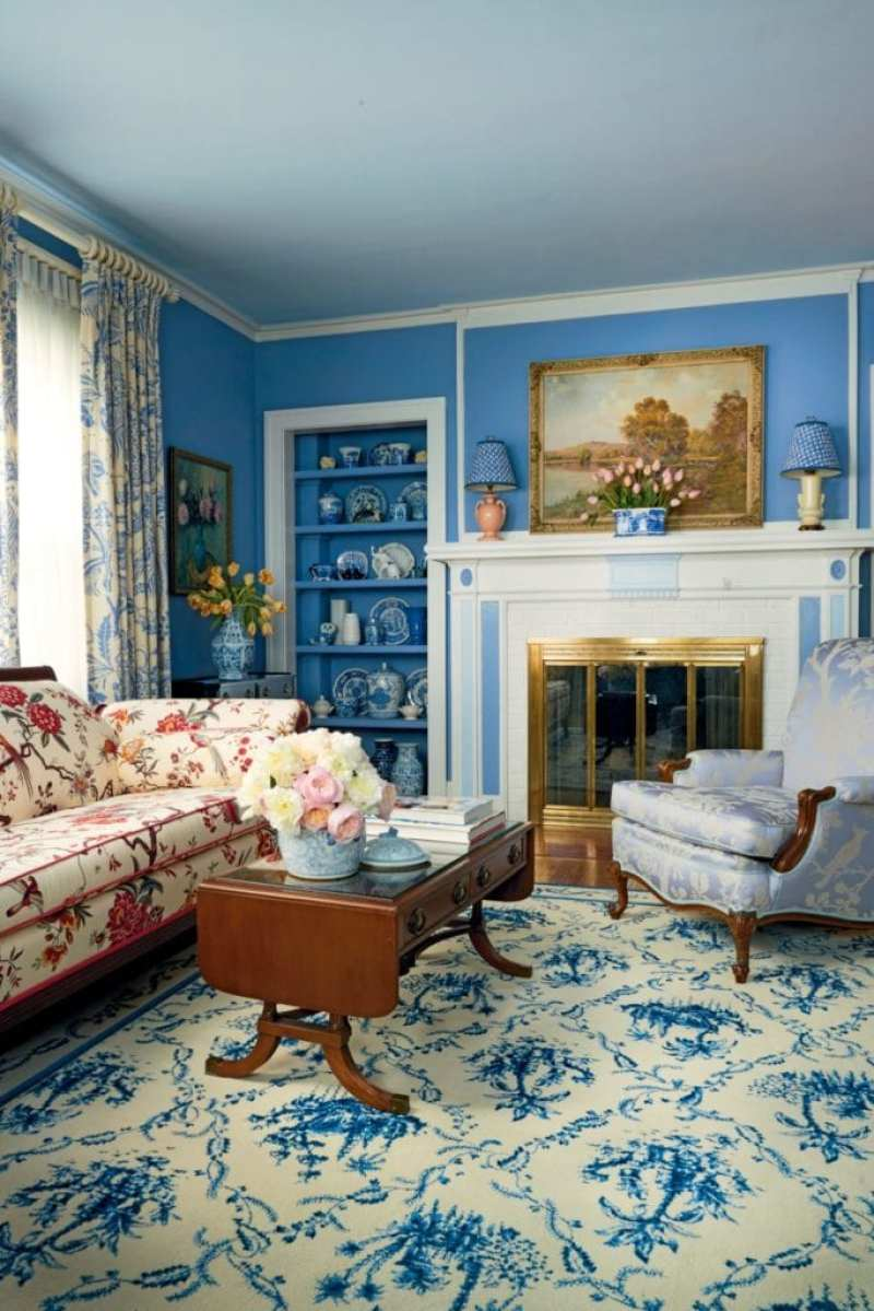 A Blue and White Dutch Colonial by Madcap Cottage - The Glam Pad
