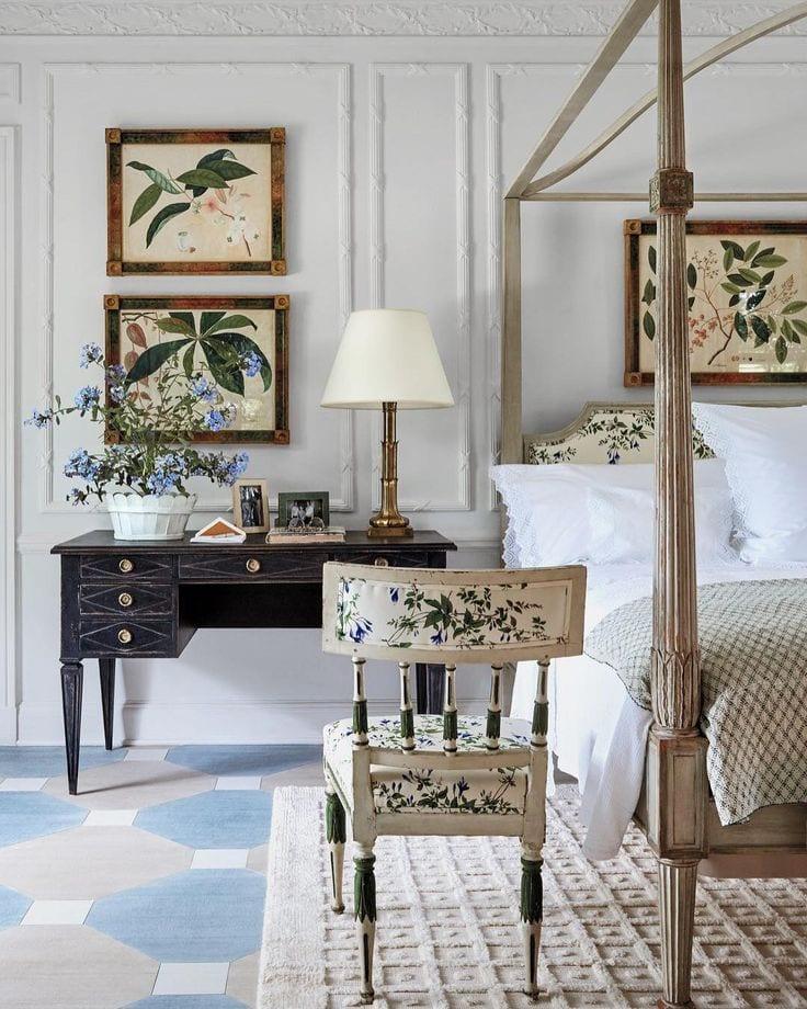 c5ed663efb6 chintz-bedroom-botanicals-framed-tory-burch - The Glam Pad