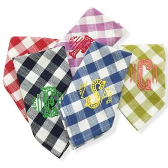 Gingham Monogramed Napkins