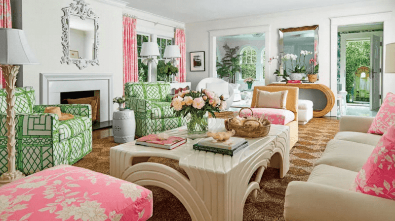 Palm Beach Decor Lilly Pulitzer Style The Glam Pad Awesome Interior Design Palm Beach Interior