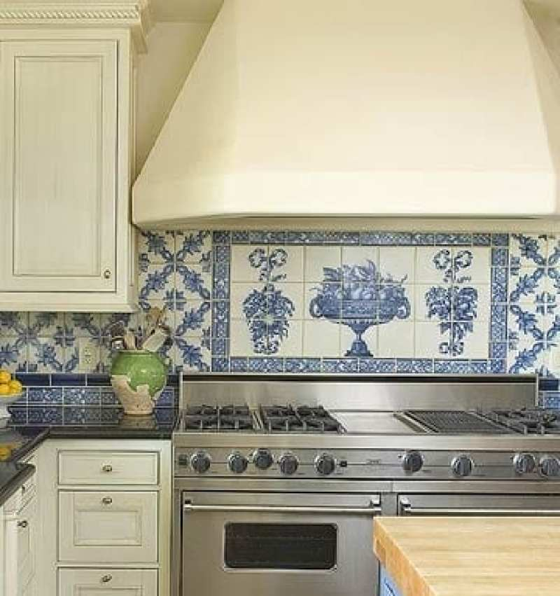 Delft Tile In The Kitchen The Glam Pad