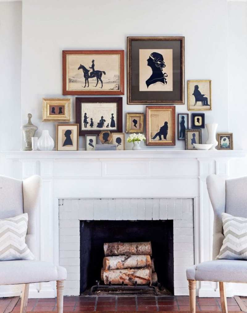 antique-silhouettes-country-living-mantel-fireplace-decor