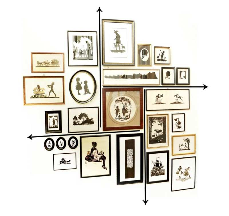 tips-on-hanging-collecting-gallery-wall-art-antique-silhouettes