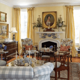 traditional-living-room-herend-fishnet-bunny-figurines-collection-victoria-magazine