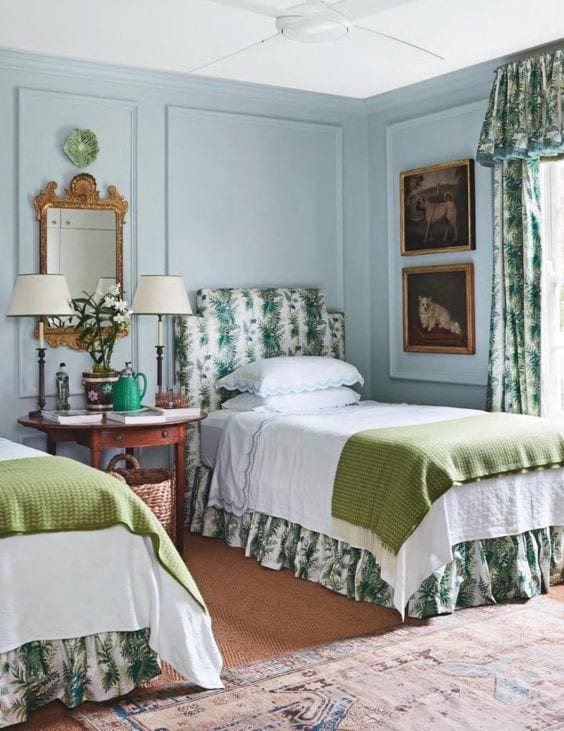 cameron-kimber-chintz-english-country-style-bedroom-dog-art ...