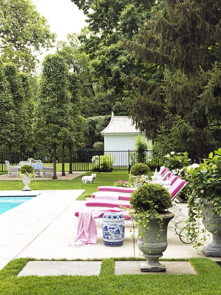 Pleasing Sunbrella Fabric Chaise Poolside Westie David Adler Garden Creativecarmelina Interior Chair Design Creativecarmelinacom