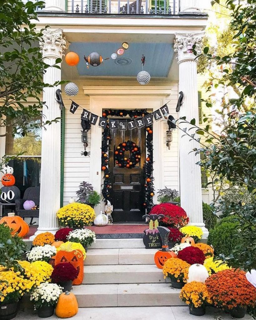 grove street press halloween decor front porch The Glam Pad