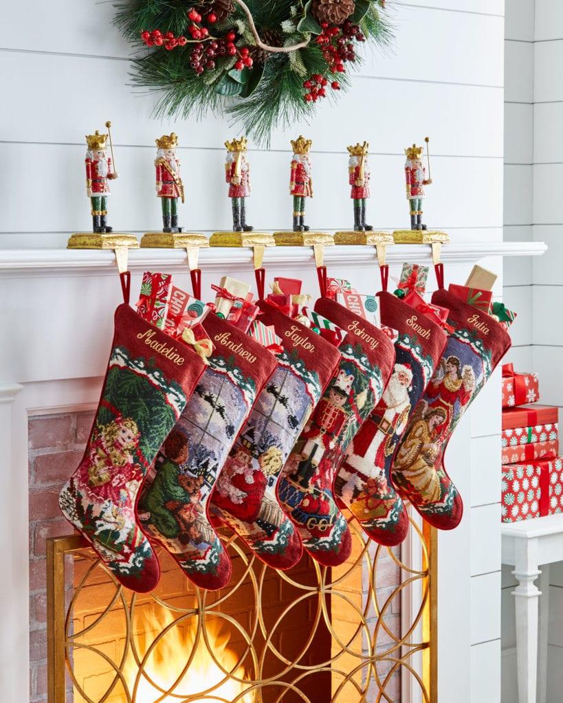 neiman-marcus-horchow-needlepoint-stockings-nutcracker ...