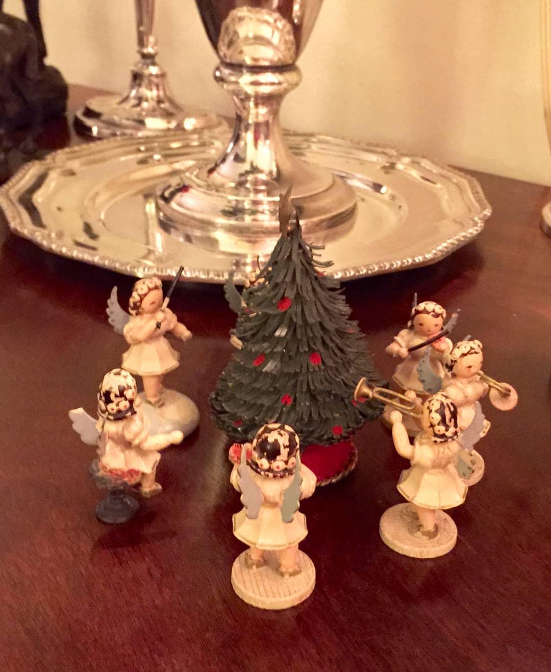 German Christmas Decorations.Vintage German Angels Germany Christmas Decorations